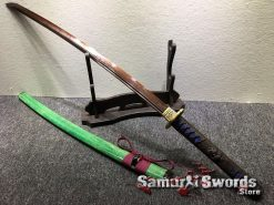 Battle Ready Katana T10 Clay Tempered Steel with Hadori Polish and Red acid Dye (8)