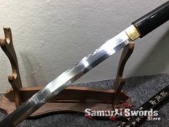 Battle Ready Shirasaya Katana T10 Folded Clay Tempered Steel Gloss Black Sun Tzu Saya (1)