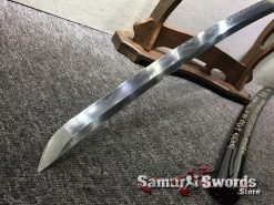 Battle Ready Shirasaya Katana T10 Folded Clay Tempered Steel Gloss Black Sun Tzu Saya (3)