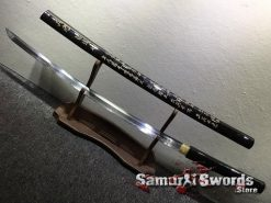 Battle Ready Shirasaya Katana T10 Folded Clay Tempered Steel Gloss Black Sun Tzu Saya (8)