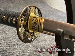 Fully Functional Katana T10 Clay Tempered Steel with Hadori Polish (10)