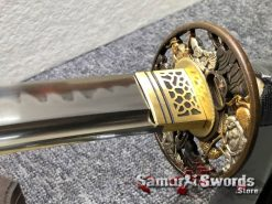 Fully Functional Katana T10 Clay Tempered Steel with Hadori Polish (4)