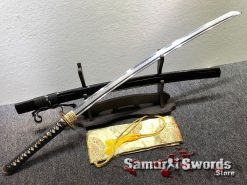 Fully Functional Katana T10 Clay Tempered Steel with Hadori Polish (6)