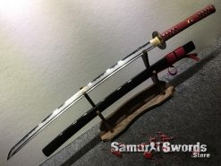 Hand Made Katana Sword T10 Folded Clay Tempered Steel (1)