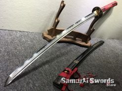 Hand Made Katana Sword T10 Folded Clay Tempered Steel (12)