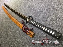 Hand Made Katana T10 Clay Tempered Steel with Gold Acid Dye (4)