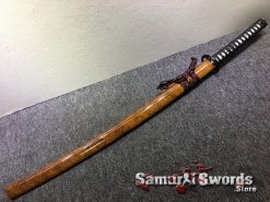 Hand Made Katana T10 Clay Tempered Steel with Gold Acid Dye (7)