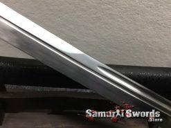 Hand Made Nagamaki 1060 Carbon Steel Black Lacquered Hardwood Saya (9)