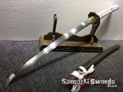 Handmade Wakizashi T10 Folded Clay Tempered Steel (4)