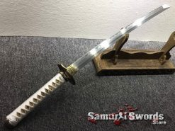 Handmade Wakizashi T10 Folded Clay Tempered Steel (9)