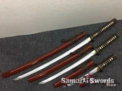 Japanese Sword Set 1060 Carbon Steel Brown Saya (2)