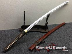 Japanese Sword Set 1060 Carbon Steel Brown Saya (5)