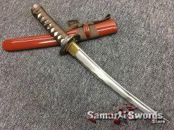 Japanese Sword Set 1060 Carbon Steel Brown Saya (6)