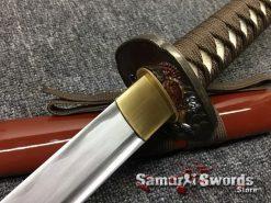 Japanese Sword Set 1060 Carbon Steel Brown Saya (8)