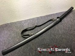 Katana 1060 Carbon Steel Sythentic Leather Saya with Shoulder Strap (1)