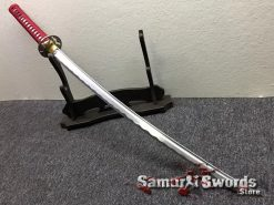 Katana Sword 1060 Carbon Steel Black And White Leopard Resin Saya (1)