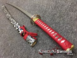 Katana Sword 1060 Carbon Steel Black And White Leopard Resin Saya (2)