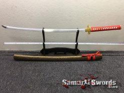 Katana Sword 1060 Carbon Steel Chinese Scroll Work Saya (4)