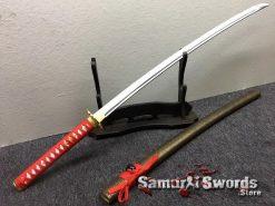 Katana Sword 1060 Carbon Steel Chinese Scroll Work Saya (5)