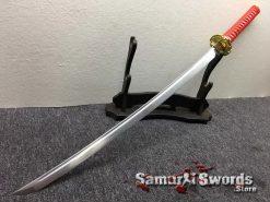 Katana Sword 1060 Carbon Steel Chinese Scroll Work Saya (6)