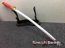 Katana Sword 1060 Carbon Steel Chinese Scroll Work Saya (7)
