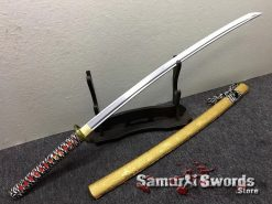 Katana Sword 1060 Carbon Steel Golden Chinese Characters Saya (4)