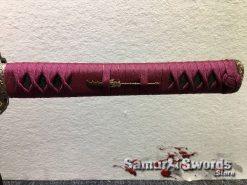 Katana T10 Folded Steel with Purple Acid Dye (7)