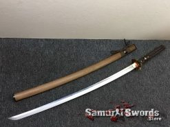 Katana Tamahagne Steel with Hadori Polish Rosewood Saya With Buffalo Horn (1)