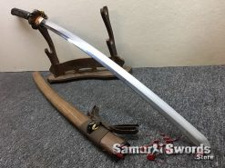 Katana Tamahagne Steel with Hadori Polish Rosewood Saya With Buffalo Horn (13)