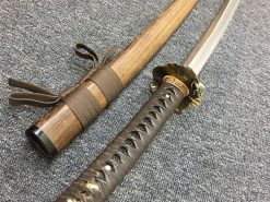 Katana Tamahagne Steel with Hadori Polish Rosewood Saya With Buffalo Horn (15)