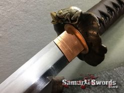 Katana Tamahagne Steel with Hadori Polish Rosewood Saya With Buffalo Horn (16)