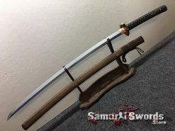 Katana Tamahagne Steel with Hadori Polish Rosewood Saya With Buffalo Horn (2)