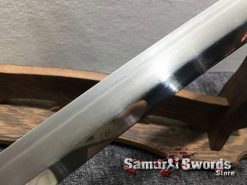 Katana Tamahagne Steel with Hadori Polish Rosewood Saya With Buffalo Horn (8)