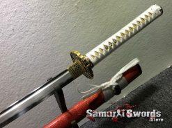 Katana and Wakizashi Sword Set T10 Folded Clay Tempered Steel (10)