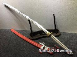 Katana and Wakizashi Sword Set T10 Folded Clay Tempered Steel (11)
