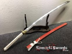 Katana and Wakizashi Sword Set T10 Folded Clay Tempered Steel (14)