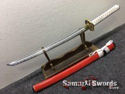 Katana and Wakizashi Sword Set T10 Folded Clay Tempered Steel (2)