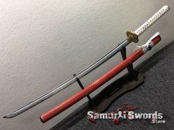 Katana and Wakizashi Sword Set T10 Folded Clay Tempered Steel (7)