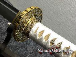 Katana and Wakizashi Sword Set T10 Folded Clay Tempered Steel (9)