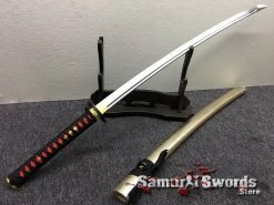 Samurai Katana 1060 Carbon Steel Synthetic Leather Fish Scales Pattern Saya (1)