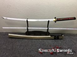 Samurai Katana 1060 Carbon Steel Synthetic Leather Fish Scales Pattern Saya (2)