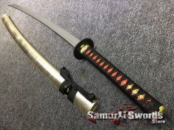 Samurai Katana 1060 Carbon Steel Synthetic Leather Fish Scales Pattern Saya (3)