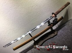 Samurai Katana Sword T10 Folded Clay Tempered Steel with Feather Hadori Polish (6)