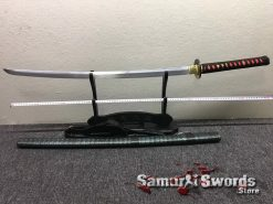 Samurai Katana T10 Clay Tempered Steel Sythentic Leather Saya with Shoulder Strap (1)