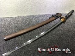Samurai Katana T10 Folded Clay Tempered Steel with Hadori Polish Rosewood Saya With Buffalo Horn (1)