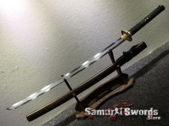Samurai Katana T10 Folded Clay Tempered Steel with Hadori Polish Rosewood Saya With Buffalo Horn (4)