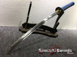 Samurai Sword Set 1060 Carbon Steel Sparkle Matt Black Saya (1)