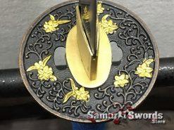 Samurai Sword Set 1060 Carbon Steel Sparkle Matt Black Saya (10)