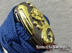 Samurai Sword Set 1060 Carbon Steel Sparkle Matt Black Saya (11)