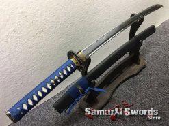 Samurai Sword Set 1060 Carbon Steel Sparkle Matt Black Saya (14)